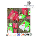 Christmas gift pillow shaped paper candy box