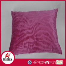 Pink wave embossed cushion pillow, solid micromink cushion, cushion pillow factory