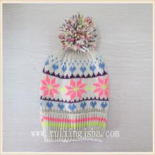 chapéu de pompom de floco de neve do inverno