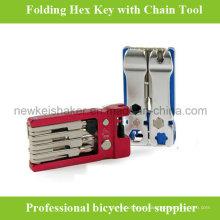 Chave de chaveira Hex de bicicleta de alta qualidade com tampa de liga