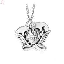 2017 hot selling mother's day silver fashion angel whisperer necklace