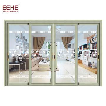 Accesorios de aluminio de doble puerta de vidrio templado con herrajes