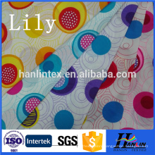 Wholesale 100% polyester 210t 190t dyed and printed taffeta lining