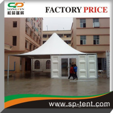 best price strong structure good quality outdoor ABC pagoda exhibition tent with glass wall for sale