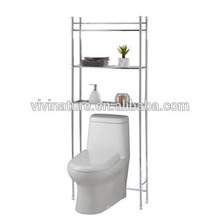 Au-dessus du stockage d'étagère de toilette \ Élégance Chrome Matériau de bain Self \ Space Saving Self pour salle de bain