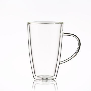 OEM ODM Custom Heat Resistant Borosilicate Double Wall Glass Cup