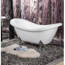 Акриловая классическая ванна с 4 металлическими ногами для взрослых