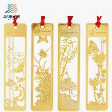 Venda superior que carimba o marcador feito sob encomenda do ouro de China no metal para o presente da promoção