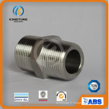 Nipple fileté de mamelon de tuyau forgé par acier inoxydable (KT0411)