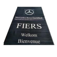 100% nylon printed branded logo garage floor mat