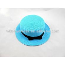 Señoras borde estrecho playa de verano Sun papel paja sombrero cúpula