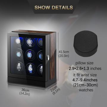 Macassar Watch Winder Box Dengan LED