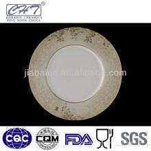 ZH005 Elegante plato decorativo para servir con calcomanía