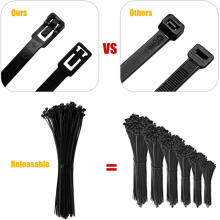 Nylon Reusable Releasable Cable Ties