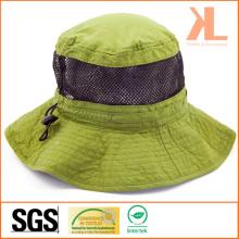 Polyester Check Taslon / Mesh Leisure Fishman Hat