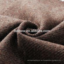 2018 100% Wolle Anzug Stoff Tweed in braunem Twill-Design