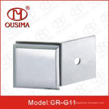 Цинковый сплав с одной стороны 180-градусный стеклянный перегородка используется в душевой (CR-G11)