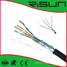 ETL / CE / RoHS / ISO Утвержденный FTP Cat5e Cable 4 пары, сплошной, Lszh