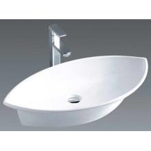 Cuarto de baño Cerámica ovalada sobre el fregadero de la cuenca del contador (7093)