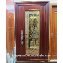 Porta frontal de metal, porta de aço inoxidável, porta de segurança exterior