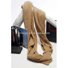 Pure cashmere knitted circle scarf