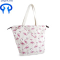 Cotton Canvas Printed Tasche mit Beutel