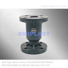 PVC Ball Check Valve Flange DIN PN10