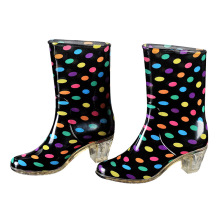 Popular Fashion High Heel Ladies Rain Shoes, Fashion Lady Women Boots