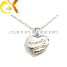 china alibaba Stainless Steel Jewelry pendant, custom hollow heart rhinestone women's pendant