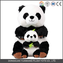 Atacado preto e branco Panda Teddy Bear Boneca Macia Panda Pelúcia