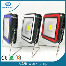 Solar Rechargeable LED Work Light With Metal Stand