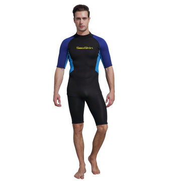 Traje de neopreno Seaskin Back Zip Shorty para bucear con esnórquel
