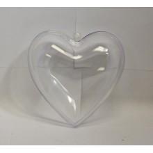 Coffret en plastique transparent en forme de coeur