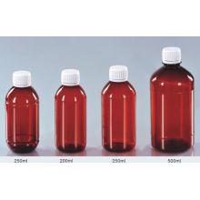 Bernstein Husten-Sirup-Flasche mit Aluminium-Schraubverschluss für Medizin