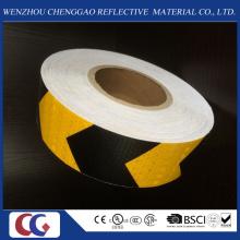 Fita material de advertência de advertência da segurança reflexiva da seta do PVC