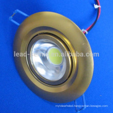 cob led recess mounted golden down light