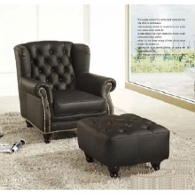 Cadeira de sofá de couro de simples quarto clássico estilo Europeu