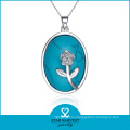 Chinese Manufacturer Silver Jewelry Necklace with Gemstone (N-0019)