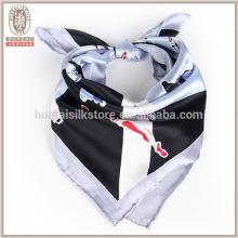 2015 plain silk satin square lady scarf stewardess uniform silk scarf