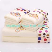 tecido de alta qualidade, jacquard, aplique toalha de mão de toalha de microfibra, toalha de rosto