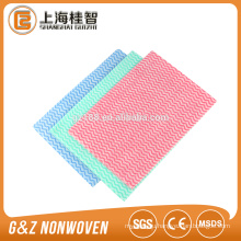 Cross mesh spunlace nonwoven for dry wipes