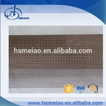 Brown 4x4mm mesh size Teflon coated fiberglass mesh fabric