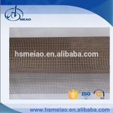 Marrom malha 4x4mm Teflon tecido de malha de fibra de vidro revestido