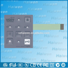 Shenzhen wholesale 5 LED display lights membrane switch with line