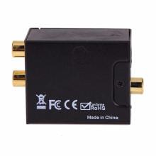 Conversor de conversor de áudio digital para analógico Adaptador óptico RCA Toslink para conversor analógico de áudio RCA