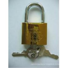 Nuevo candado de hierro plateado oro