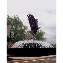 jardim ao ar livre decoração bronze metal artesanato grande águia estátuas