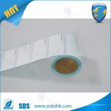 Las nuevas importaciones calientes en blanco y la impresión personalizada impermeabilizan el rollo térmico del papel de la etiqueta de la escala del peso del supermercado