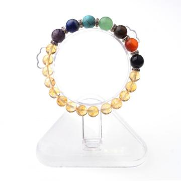 8mm Restful Healing Bracelet Topaz Beaded Charm