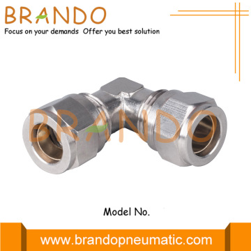 Union 90 Degree Elbow Pneumatic Compression Ferrule Fittings